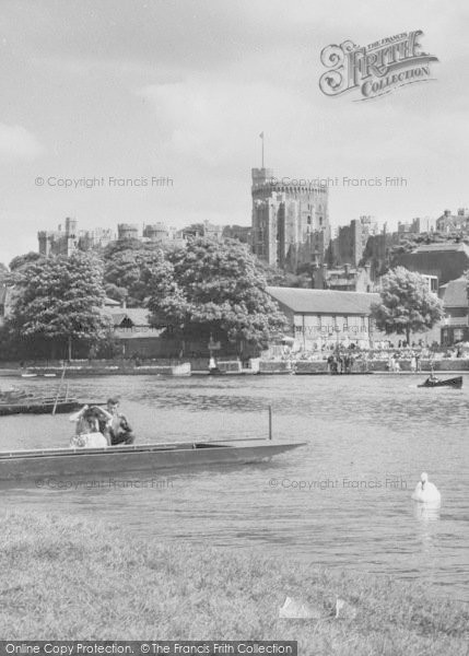 Photo of Windsor, The Castle From The River c.1960