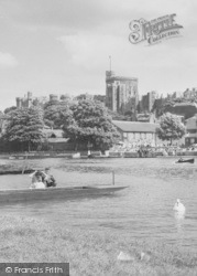 Windsor, The Castle From The River c.1960