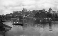 Windsor, The Castle From The River Thames 1895