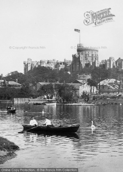 Photo of Windsor, The Castle From The River Thames 1895
