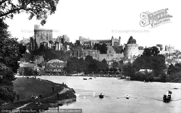 Photo of Windsor, The Castle From The River Thames 1906