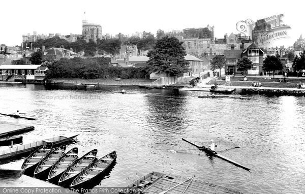Photo of Windsor, the Castle from the River Thames 1929