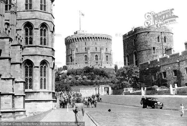 Photo of Windsor, The Castle, Lower Ward c.1950