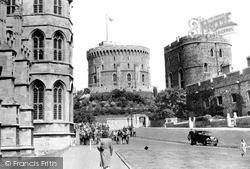 Windsor, The Castle, Lower Ward c.1955