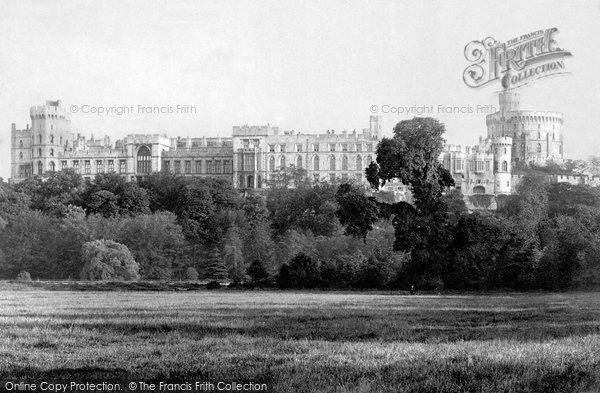 Photo of Windsor, The Castle, North Side 1890