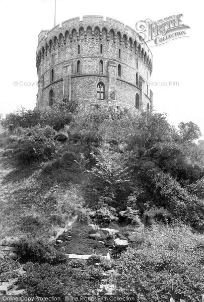 Photo of Windsor, The Castle, Round Tower And Moat Garden 1914