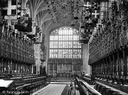 Windsor, The Castle, St George's Chapel, The Choir 1895