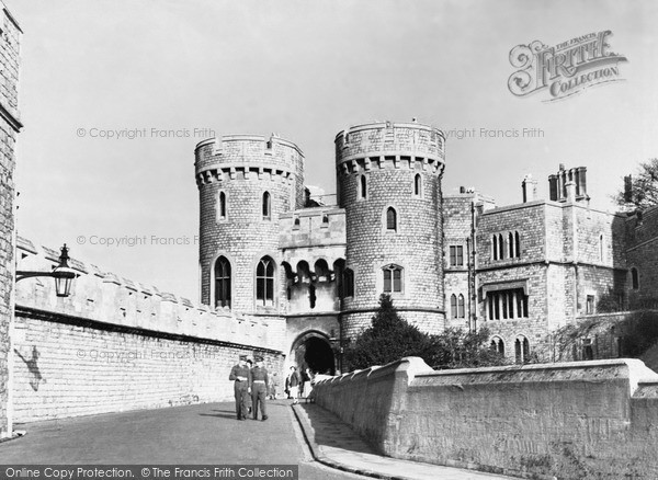 Photo of Windsor, The Castle, The Norman Gate c.1955