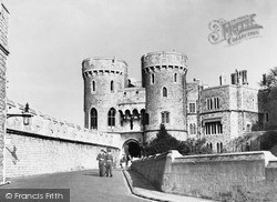 Windsor, The Castle, The Norman Gate c.1955