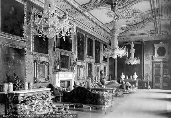 Photo of Windsor, The Castle, Van Dyck Room 1895
