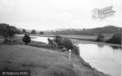 Winforton, The Wye Valley From The Boat Inn c.1955