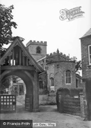 Church And Lych Gate c.1950, Wing
