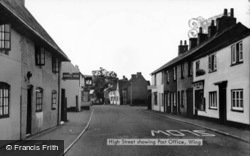 High Street And Post Office c.1950, Wing