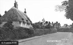 School Lane c.1950, Wing