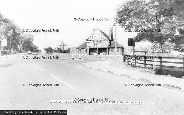 Photo of Wingate, Wellfield Road And Fir Tree Inn c.1960