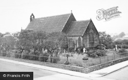 Wingates, Church Of St John The Evangelist c.1955