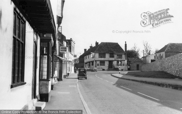 Photo of Wingham, Lion Corner, High Street c.1960