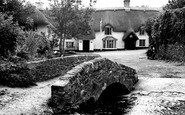Winsford, Blacksmith Bridge and Royal Oak Hotel c1960