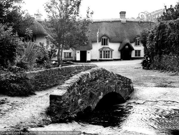 Photo of Winsford, Blacksmith Bridge and Royal Oak Hotel c1960