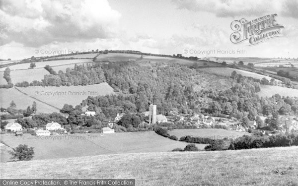 Photo of Winsford, From Winsford Hill Road c.1955