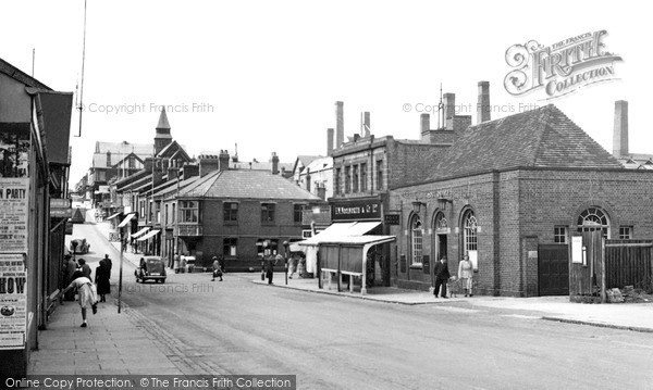 Photo of Winsford, High Street And General Post Office c.1955