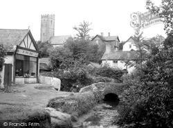 The Blacksmith Bridge And Church c.1960, Winsford