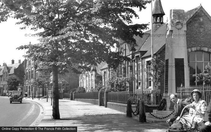 Photo of Winsford, War Memorial And Schools c.1955
