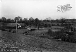 Winsham, River Axe And Bridge c.1950