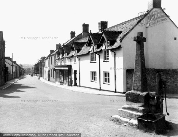 Photo of Winsham, The Cross And Church Street c.1955