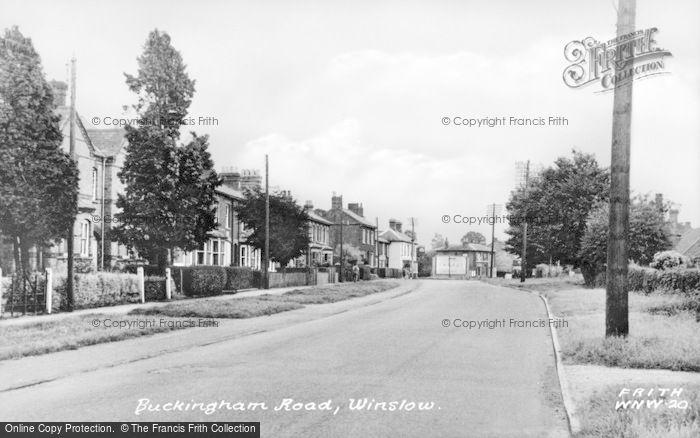 Photo of Winslow, Buckingham Road c.1955