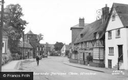 Winslow, Horn Street, Towards Parsons Close c.1955