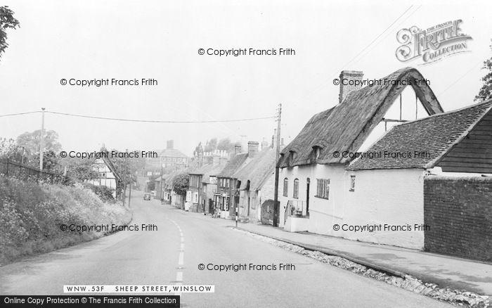 Photo of Winslow, Sheep Street c.1955