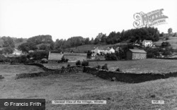 General View Of The Village c.1960, Winster