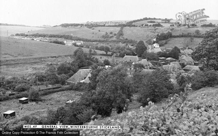 Photo of Winterborne Stickland, General View c.1955