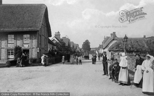 Photo of Winterborne Stickland, North Street c.1900