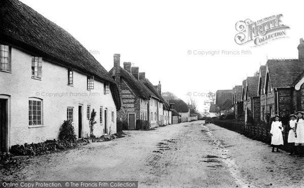 Photo of Winterborne Stickland, North Street c.1900