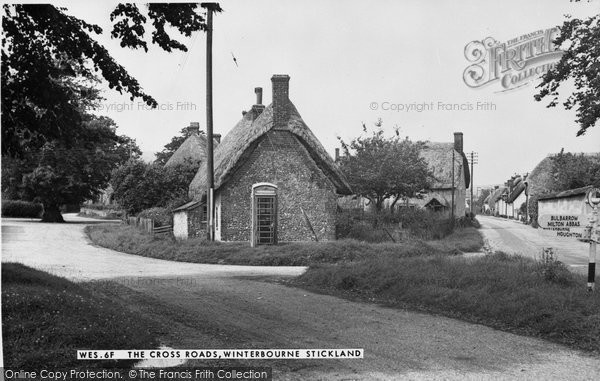 Photo of Winterborne Stickland, The Cross Roads 1955