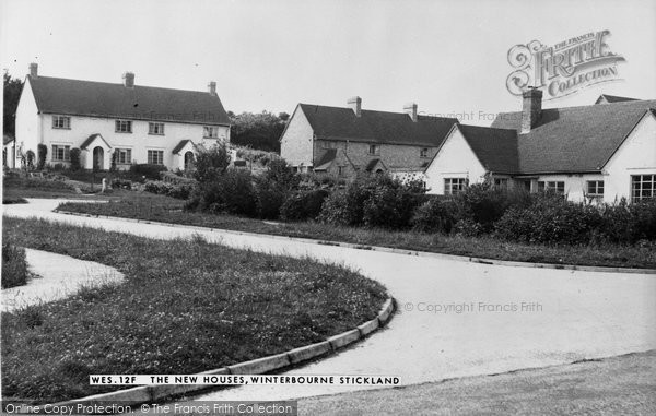 Photo of Winterborne Stickland, The New Houses 1955
