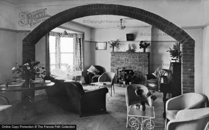 Photo of Winterton On Sea, A Corner Of The Lounge, Chalet Hotel c.1955