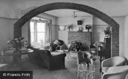 Winterton-on-Sea, A Corner Of The Lounge, Chalet Hotel c.1955
