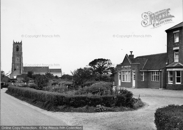 Photo of Winterton On Sea, Church And Mariners Hotel c.1960