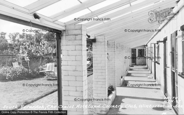 Photo of Winterton On Sea, South Verandah, The Chalet Hotel And Country Club c.1960