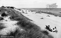 Winterton-on-Sea, The Beach c.1955