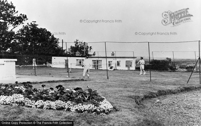 Photo of Winterton On Sea, The Tennis Courts, The Chalet Hotel And Country Club c.1955