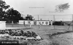 Winterton-on-Sea, The Tennis Courts, The Chalet Hotel And Country Club c.1955