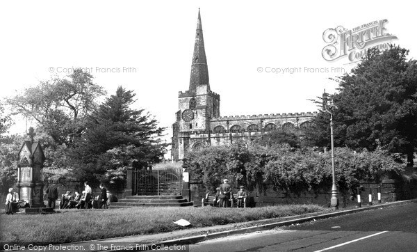 Photo of Winwick, St Oswald's Church c.1955