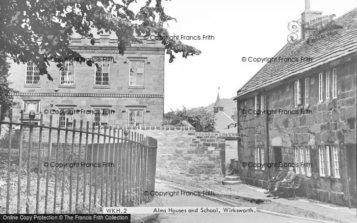 Photo of Wirksworth, Almshouses And School c.1955