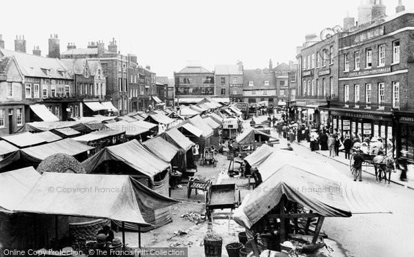 Photo of Wisbech, Market Place 1901