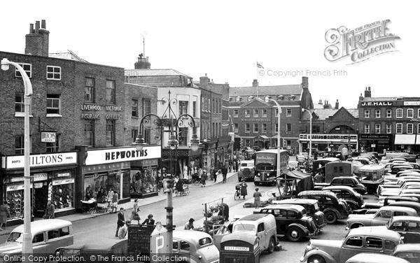 Wisbech, Market Place c1955