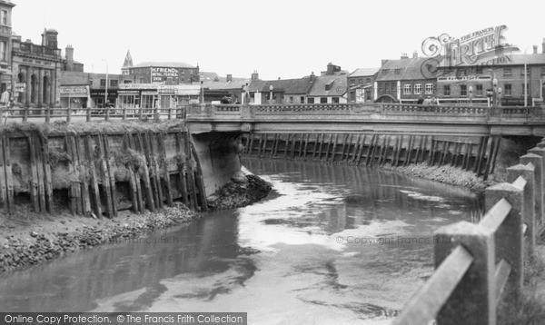 Photo of Wisbech, Nene Quay And Bridge c.1955